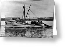 New Marretimo Purse Seiner Monterey Bay Circa 1947 Greeting Card