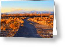 New Mexico Back Country Road Greeting Card