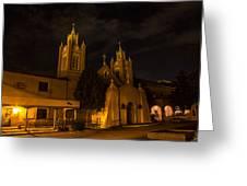 New Mexico Church Night Greeting Card