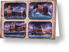 New Mexico Churches In Snow Greeting Card by Ricardo Chavez-Mendez