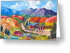 New Mexico Colors Greeting Card