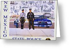 New Mexico State Police Poster Greeting Card
