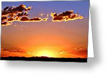 New Mexico Sunset Glow Greeting Card