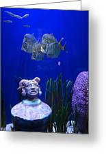 New Orleans Aquarium Greeting Card by Louis Maistros