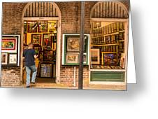 New Orleans Art Shop On Royal Greeting Card