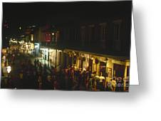 New Orleans: Bourbon Street Greeting Card