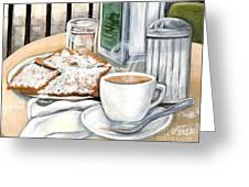 New Orleans Cafe Du Monde Greeting Card