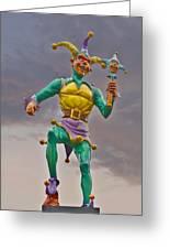 New Orleans - Canal Street Ferry Jester Greeting Card by Christine Till