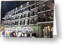 New Orleans - City At Night - 12122 Greeting Card