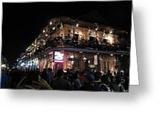 New Orleans - City At Night - 12123 Greeting Card