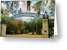 New Orleans City Park - Pizzati Gate Entrance Greeting Card