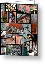New Orleans Collage 2 Greeting Card