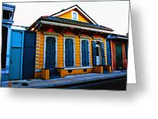 New Orleans Creole Cottage Greeting Card
