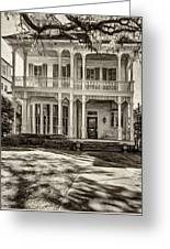 New Orleans Home - Paint Sepia Greeting Card