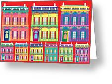 New Orleans Houses Greeting Card