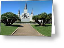 New Orleans - Jackson's Square Greeting Card