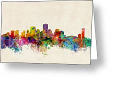 New Orleans Louisiana Skyline Greeting Card by Michael Tompsett