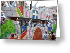 New Orleans - Mardi Gras Parades - 1212102 Greeting Card