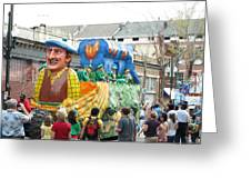 New Orleans - Mardi Gras Parades - 1212126 Greeting Card