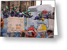 New Orleans - Mardi Gras Parades - 1212129 Greeting Card