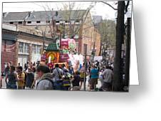 New Orleans - Mardi Gras Parades - 1212131 Greeting Card