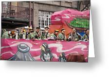 New Orleans - Mardi Gras Parades - 1212133 Greeting Card