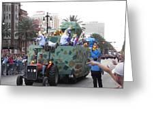 New Orleans - Mardi Gras Parades - 121214 Greeting Card
