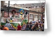 New Orleans - Mardi Gras Parades - 1212143 Greeting Card