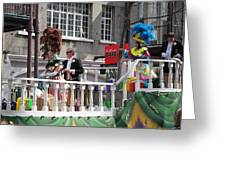New Orleans - Mardi Gras Parades - 1212144 Greeting Card