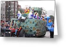 New Orleans - Mardi Gras Parades - 121215 Greeting Card
