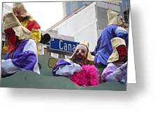 New Orleans - Mardi Gras Parades - 121218 Greeting Card