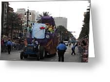 New Orleans - Mardi Gras Parades - 121226 Greeting Card