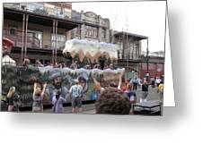 New Orleans - Mardi Gras Parades - 121287 Greeting Card
