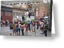 New Orleans - Mardi Gras Parades - 121295 Greeting Card