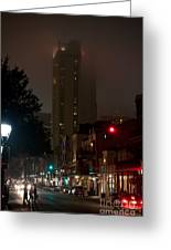 New Orleans Market District At Night Greeting Card