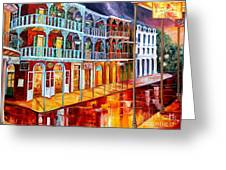 New Orleans Reflections In Red Greeting Card