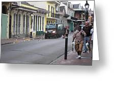 New Orleans - Seen On The Streets - 121252 Greeting Card