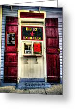 New Orleans Snow Ball Stand Greeting Card by Louis Maistros