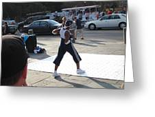 New Orleans - Street Performers - 121219 Greeting Card