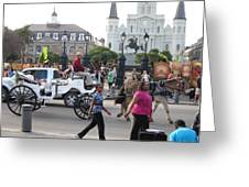 New Orleans - Street Performers - 12127 Greeting Card