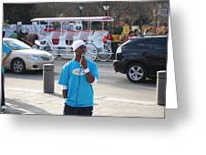 New Orleans - Street Performers - 12128 Greeting Card