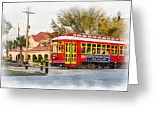 New Orleans Streetcar Paint Greeting Card