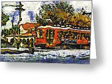 New Orleans Streetcar Paint Vg Greeting Card
