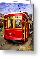 New Orleans Streetcar  Greeting Card by Paul Velgos