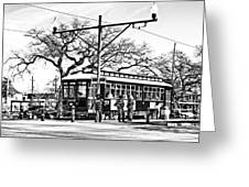 New Orleans Streetcar Silhouette Greeting Card