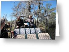 New Orleans - Swamp Boat Ride - 1212103 Greeting Card
