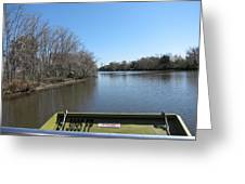 New Orleans - Swamp Boat Ride - 121270 Greeting Card