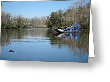 New Orleans - Swamp Boat Ride - 121289 Greeting Card