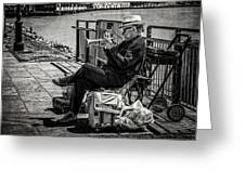 New Orleans Waterfront Jazz Greeting Card
