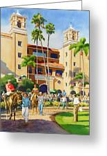 New Paddock At Del Mar Greeting Card